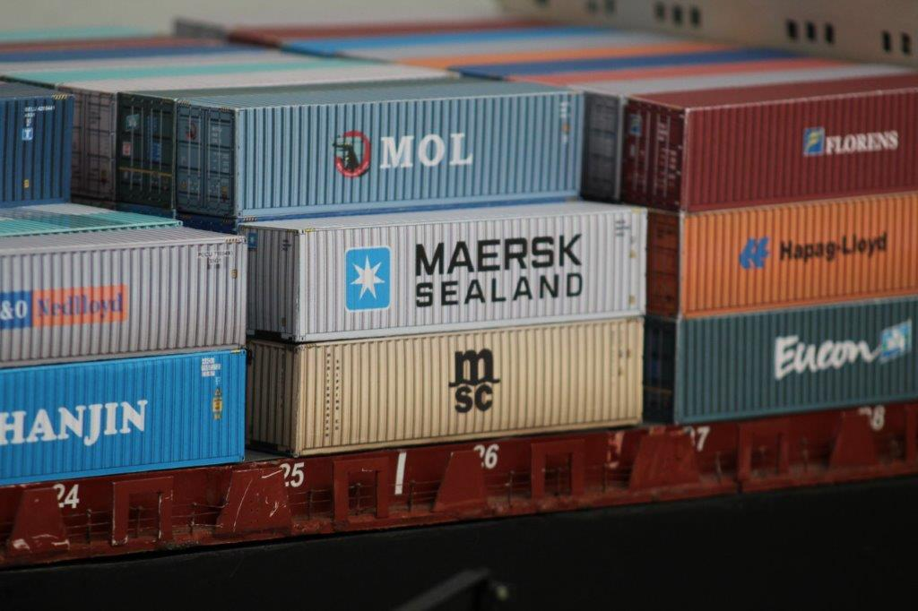 ship containers OO close up