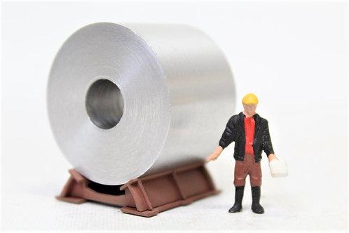 Plain Metal Coil Loads (x3) 32mm by 24mm