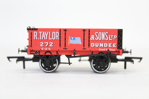 Oxford Rail Red 4 Plank Open Wagon 'R Taylor' T3
