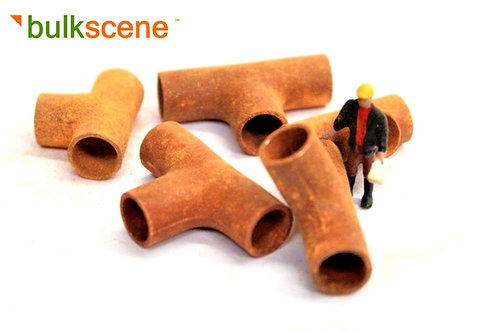 Scrap Rusty Tee Pipes - Pack of 5