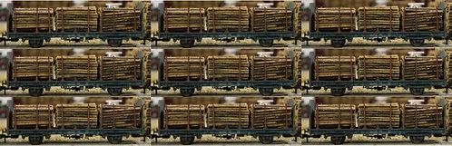 Small Diameter Timber Logs 40mm - 9 Wagon Loads