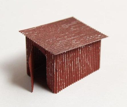Corrugated Metal Trackside Hut Building Weathered