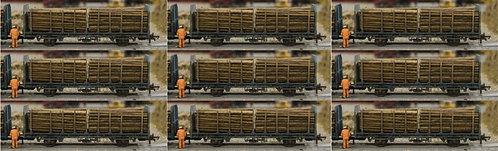 Small Diameter Timber Logs 64mm - 9 Wagon Loads