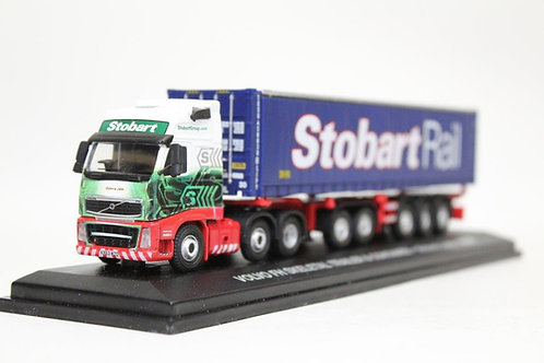 Oxford Volvo Stobart Container Skeletal Trailer Lorry 1/76 OO Gauge (O23)