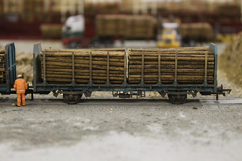 Small Diameter Timber Logs 64mm - 1 Wagon Load