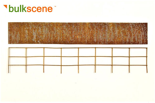 Rusty 32mm Corrugated Metal Fence - 200mm