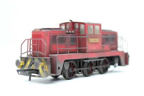 PRO-WEATHERED Janus 0-6-0 Diesel Shunter 'Elizabeth' (F10)