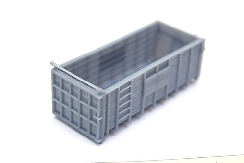 Unpainted Tall Hooklift Container Skip