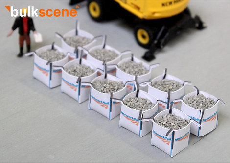 Network Rail Tonne Bags w/ 1mm grey ballast loads - Pack of 10