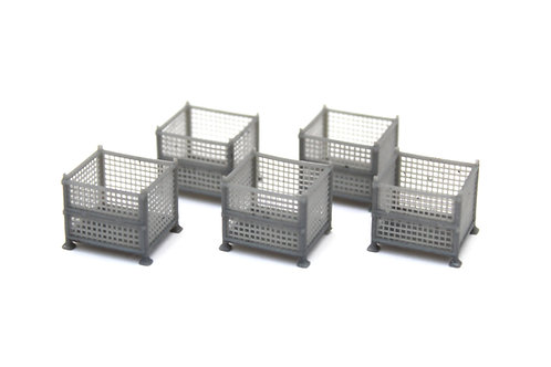 Unpainted Mesh Stillage Containers (x5)