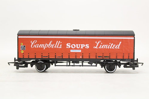 Hornby R141 'Campbells Soup' Closed Curtainside Van Wagon OO Gauge 1/76 Y3