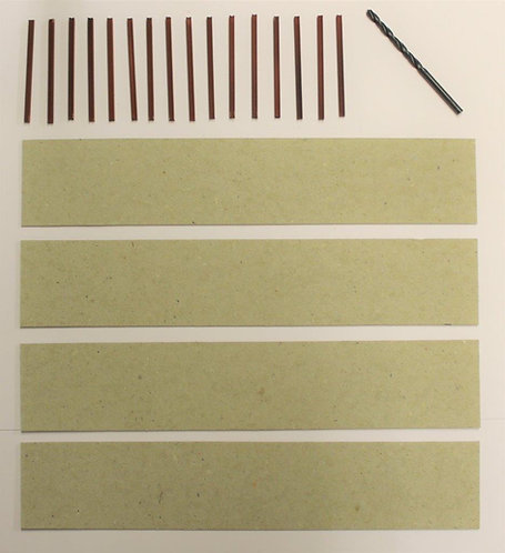 Model Concrete Slot Walls Pack of 16 posts & 4 card strips