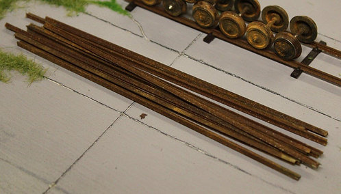 Rusty Scrap Track Lengths - Pack of 10