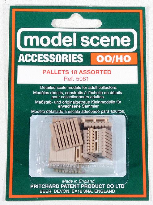 Modelscene 5081 Assorted Pallets OO Gauge 1/76 (O17)
