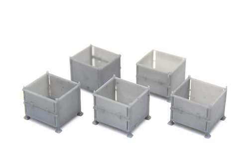 Unpainted Stillage Containers (x5)