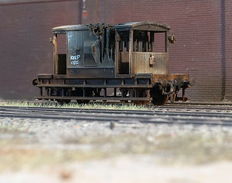 Fire Damaged Brake Van Wagon (B2)