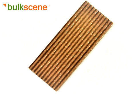 40 x 15mm Rusty 1.2mm Corrugated Metal Panel