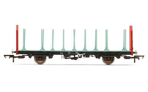 Hornby R6847 OTA Timber Wagon (Parallel Stanchions) EWS - Era 9 (M5)