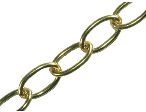 Brass Chain 2.5mm links - 1 meter long (G15)
