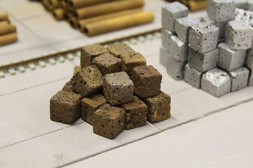 Crushed Rusty Steel Scrap Bales (x16) OO Gauge