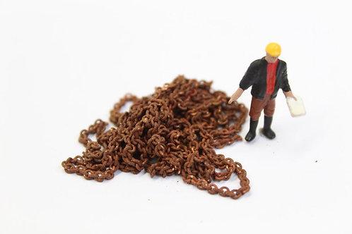 Rusty Weathered Brass Chain 2.5mm - 30cm length