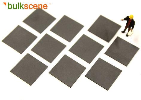 Black Steel Plate Loads (x10) 16mm by 16mm