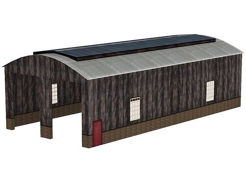 Bachmann 44-0035 Wooden Carriage Shed Building OO Gauge 1/76 L22