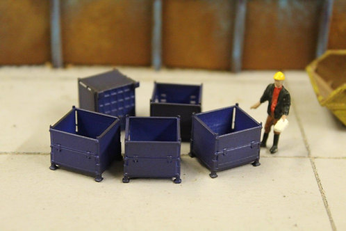 5 x Blue Stillage Containers