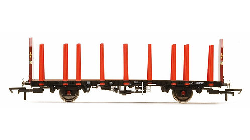 Hornby R6792 OTA Timber Wagon (Tapered Stanchions), EWS - Era 9