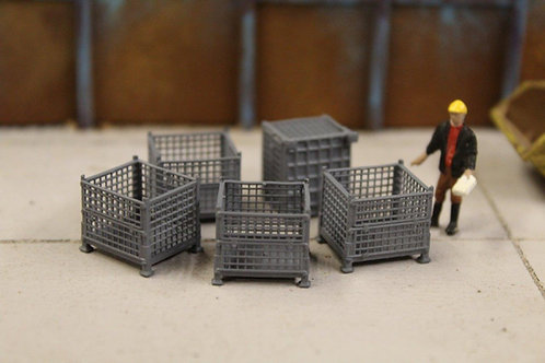 5 x Grey Mesh Stillage Containers