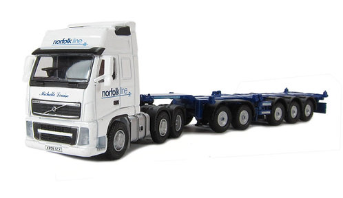 Oxford VOL01CT Norfolkline Container Combi Lorry 1/76 OO (Q12)