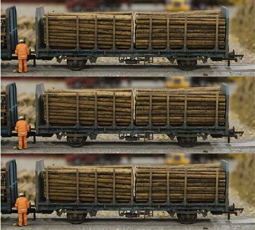 Small Diameter Timber Logs 64mm - 3 Wagon Loads