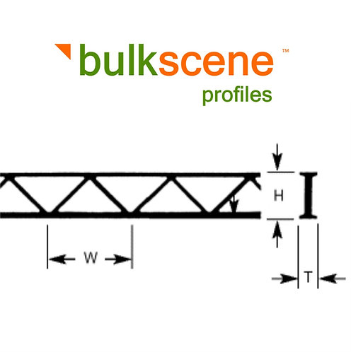 WEB TRUSSES PLASTIC PROFILES FOR OO/HO MODELLING
