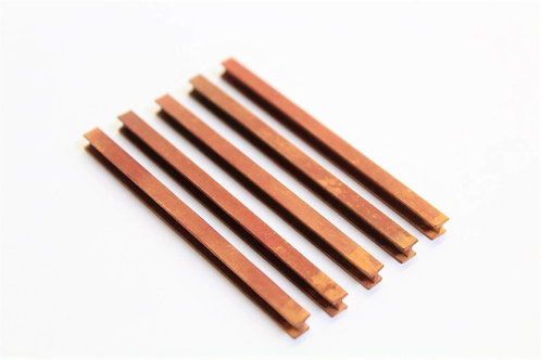 Red Oxide Weathered H Column Girders 65mm by 4mm - Pack of 5