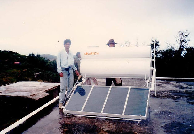 First solar water heater in mauritius.jp