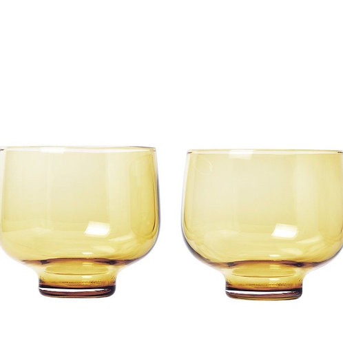 Set van 2 glazen 220 ml dull gold