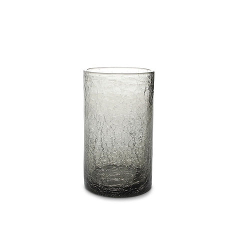 Glass 40cl grey Crackle set4