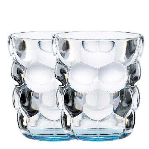 Glas bubble blauw 33cl set2