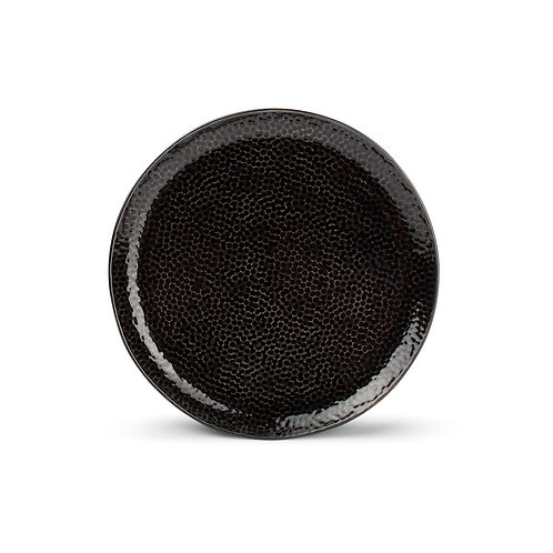 Plat bord 20,5cm zwart Mielo