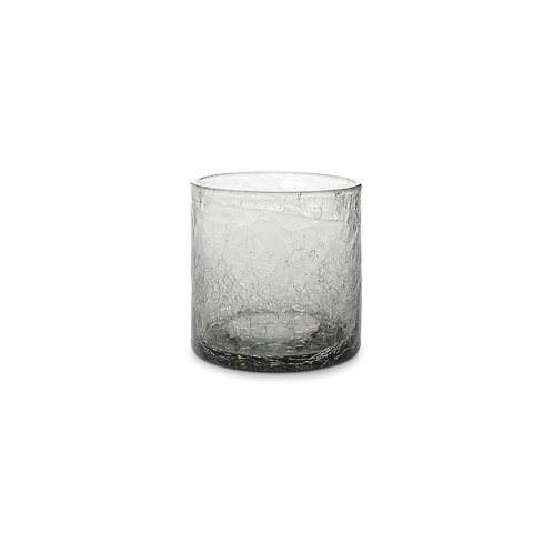 Glass 22cl grey Crackle