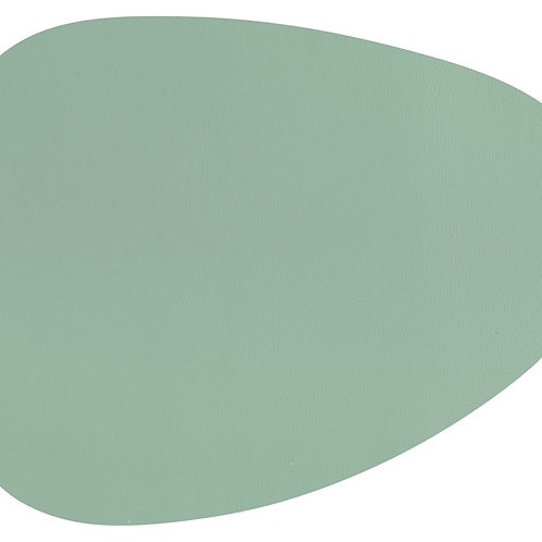 Placemat STONE - Leather look imitation- 43x32cm green
