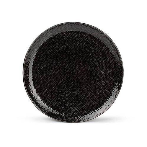 Plat bord 26,5cm zwart Mielo