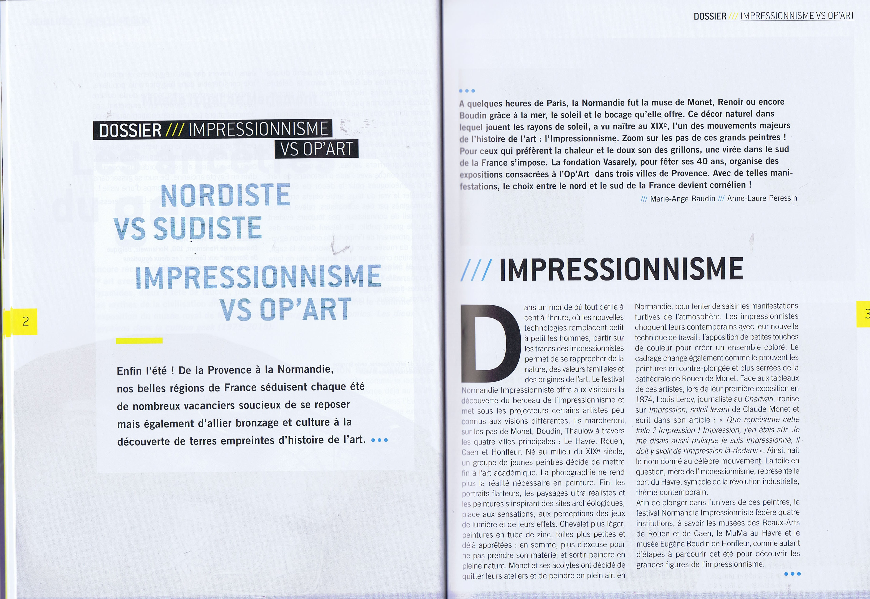 Dossier Impressionniste vs Op'Art