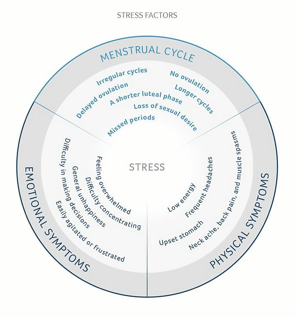 stress factoren menstruatiecyclus daysy
