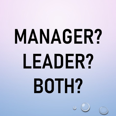 Manager or Leader (or Both)