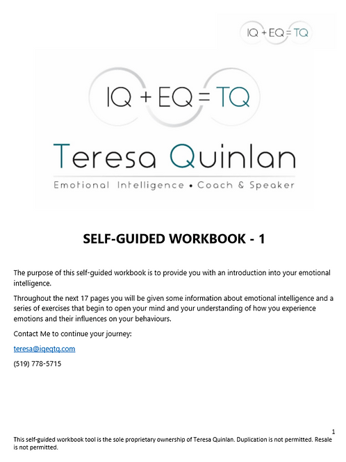 Self Guided Workbook 1 - My Emotional Intelligence
