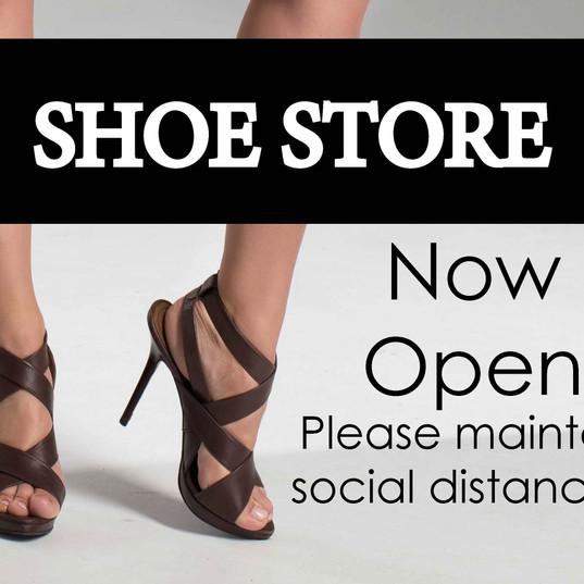 Shoe Store Open