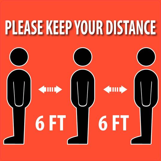 Keep 6Ft Distance 3Men