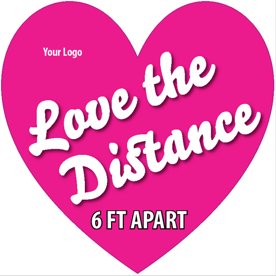 Love The Distance Heart