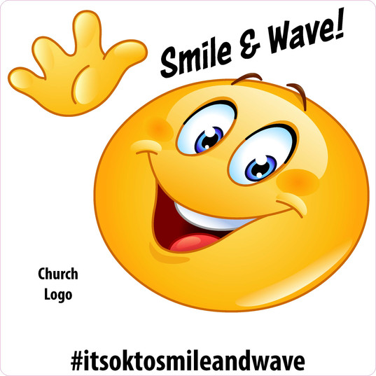 Smile and Wave Window Decal